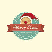 Pixie christmas label — Vector de stock