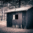 Spooky cabin — Stock Photo