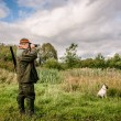 Stock Photo: Hunter searching