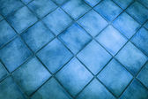 Surface de fond de carreaux bleus — Photo