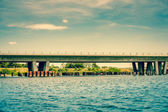 Bridge by the river — Stock Photo