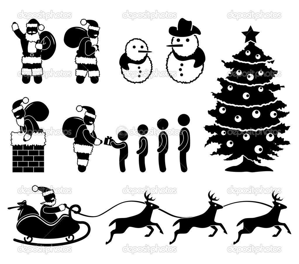 Displaying 20> Images For - Simple Santa Sleigh Silhouette...