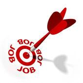 Job Target — Stock Photo