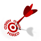 Hired Target — Stock Photo