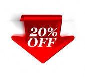 20% off — Foto de Stock
