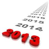 Yıl 2013 — Stok fotoğraf