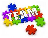 Construction d'une équipe — Photo