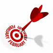 Stock Photo: February Target