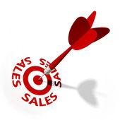 Sales Target — Stock Photo