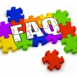 FAQ Puzzle — Stock Photo