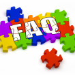 Stock Photo: FAQ Puzzle