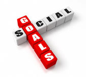 Social Goals Red — Stock Photo
