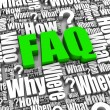 Frequently Asked Questions — Stock Photo #27100603