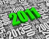 2011 yılı reklam — Stok fotoğraf