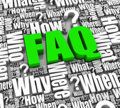 Frequently Asked Questions — Foto Stock