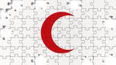 Red Crescent Flag — Stock Photo