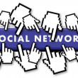 Crowded social network - Stock Photo