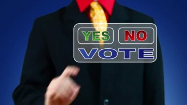 Businessman voting Yes — Stock Video