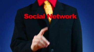 Rede social crescente — Vídeo stock