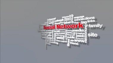 Social network — Stock Video
