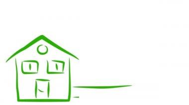 Eko dům a životní prostředí — Stock video