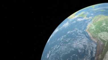 Rotating Earth with the Sun — Stock Video