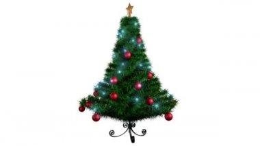Rotating Christmas tree — Stock Video