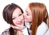 Kiss for my best friend — Stock Photo