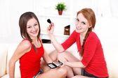 Make-up session — Stock fotografie