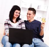 Shopping on-line — Stock Photo