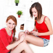 Girls do manicure — Stock Photo