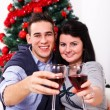 Christmas toast — Stock Photo
