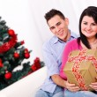 Young couple at Christmas — Stock Photo #20054275
