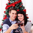 Celebration moments at Xmas — Stock Photo