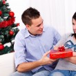Stock Photo: Christmas reconciliation