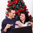 Stock Photo: Christmas online shopping