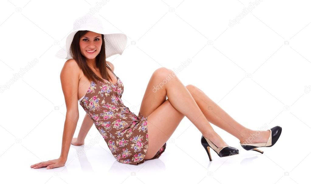 Картинки девушки мини платьях в позе