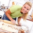Love message in kitchen — Stock Photo #22241867