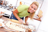 Love message in the kitchen — Stockfoto