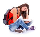 обучения студент девушка — Стоковое фото