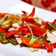 Oriental main course - Stir fried vegetables — Stock Photo