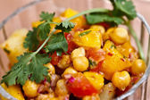 Asian food - Aloo Chana mango chat — Stock Photo