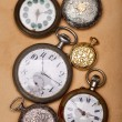 Six ancient pocket watch — Stock fotografie