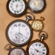 Stock Photo: Six ancient pocket watch