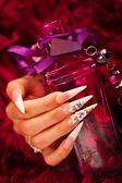Nails and elixir bottle — Stockfoto