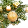 Fir twig with Christmas decoration — Stock Photo #36048765
