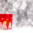 Christmas candle holder — Stock Photo
