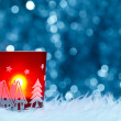 Festive candle holder — Stockfoto