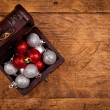 Small treasure box with decorations — Stock Photo