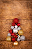 Small Christmas tree of globes — Foto Stock